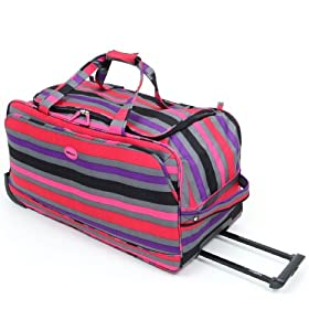 Highbury - 74cm Large Wheeled Holdall - Stripe