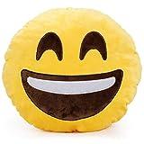yinggg Cute Emoji Felpa Almohada Cojín redondo de peluche regalo para amigos/niños