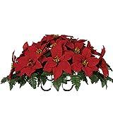Red Poinsettia Silk Saddle Arrangement by Sympathy Silks® (SD8011) Sale