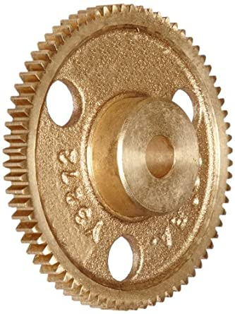 Boston Gear Brass Spur Gear, 32 Pitch, Brass, Inch, 32 Pitch