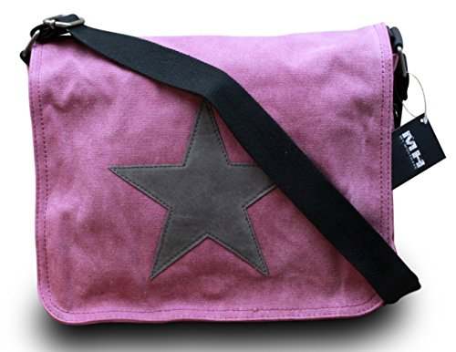 my-musthave-bolso-de-tela-para-mujer-rosa-purple-stern-grau-medium