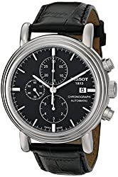 """Tissot Men's T068.427.16.051.00 """"Carson"""" Stainless Steel Watch with Black Leather Band"""