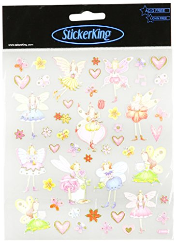 Multi-Colored Stickers-Garden Fairies