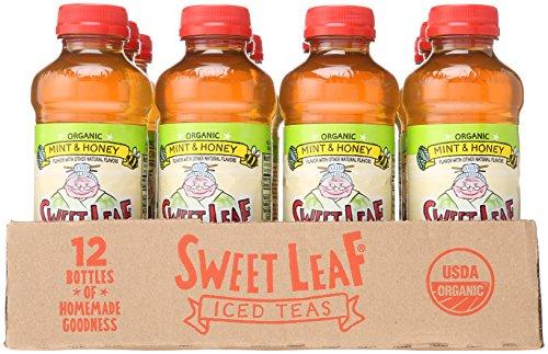 Lipton Tea 20oz Bottle For Sale: Sweet Leaf USDA-Certified Organic Iced Tea, Mint And Honey