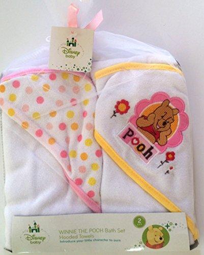 Disney Pooh Hooded Towel 2 Pack - 1