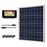 Renogy Starter Solar Panel Kit 50W Poly: Solar Panel UL Listed Charge Controller 12V off grid Solar Kit Portable