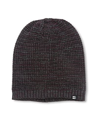 Block Men's 3 Color Twist Slouch Beanie, Burgundy