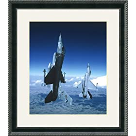 F-16 Fighting Falcons Framed Art Print,