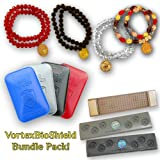 Vortex BIO SHIELD - ANTI RADIATION KIT Natural Crystal Balance - TOTAL OF 4 ITEMS: for all Cell Phon