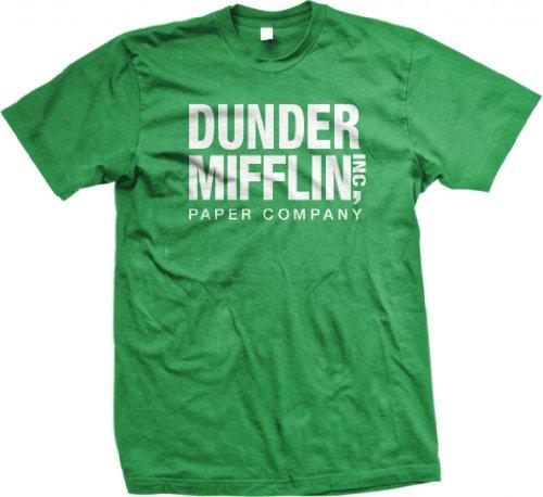 dunder-mifflin-paper-inc-funny-mens-cotton-t-shirt-medium-kelly-green