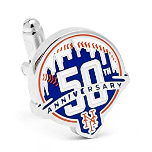 MLB New York Mets 50th Anniversary Cufflinks by Cufflinks Inc.