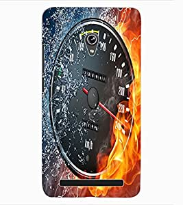ColourCraft Water and Fire Speed Meter Design Back Case Cover for ASUS ZENFONE 6 A600CG