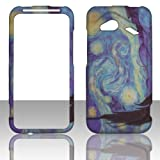 2D Blue Design HTC Droid Incredible 4G LTE 6410 Verizon Case Cover Phone Snap on Cover Cases Hard Protector