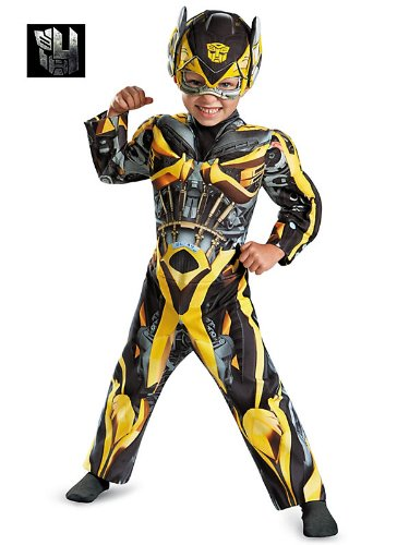Disguise Hasbro Transformers Age of Extinction Movie Bumblebee Toddler Muscle Costume