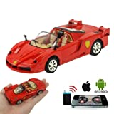 Phone Links: Red Ferrari F50 Remote Control iCar Car RC Alloy Motion for iPhone, iPad and Android Works With iPad 1 2 New iPad 3, iPad 4, Samsung Galaxy S2 S3 Galaxy Tab Nexus and Many More - App available from iTunes & Google Play in Red - Only By Phone