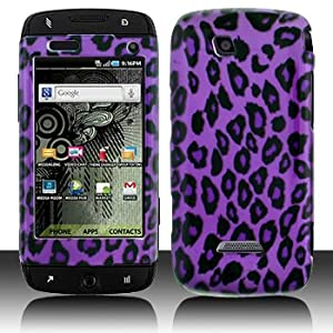 Purple Leopard Design Snap on Hard Skin Shell Protector Faceplate Cover Case for Samsung Sidekick 4g T839
