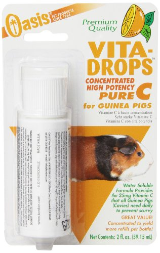 OASIS #80254 Vita Drops-Pure C for Guinea Pig, 2-Ounce