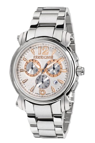 Roberto Cavalli - R7273672145 - Montre Mixte - Quartz Chronographe - Bracelet Acier Inoxydable Argent