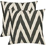Helena Decorative Pillows in Charcoal Grey (Set of 2) Size: 22