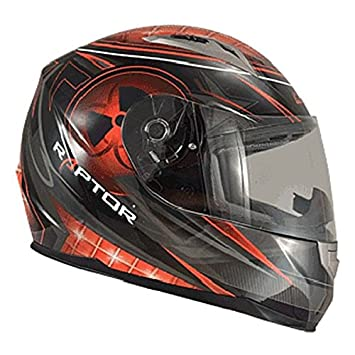 Casque moto intégral CHOK RAPTOR NUCLEAR STAR 15 - Noir / Rouge