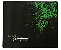 Gamers by Gamers Razer Mouse pad (Size: 11inch X 9.7inch) Black & Green