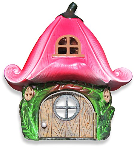 premium-lily-flower-fairy-garden-house-6-pink-green-perfect-for-building-your-ideal-woodland-fairy-v