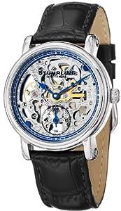 Stuhrling Original Women's 460L.121516 Classic Delphi Avon Mechanical Skeleton Blue Dial Watch