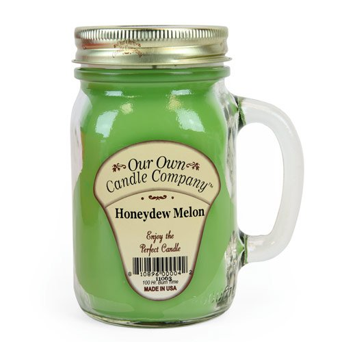 13 oz HONEYDEW MELON Scented Jar Candle (Our Own Candle Company Brand) Made in USA - 100 hr burn time