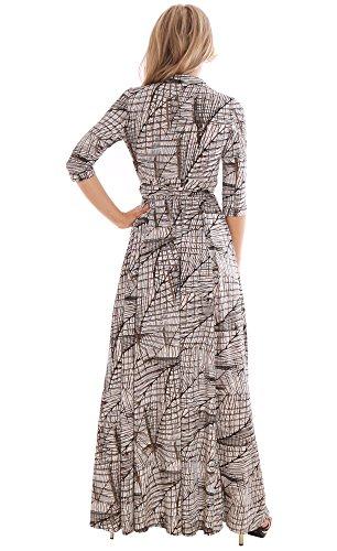 WINTER SALE! Elegant Ladies Maxi Party Dress Vintage Style Wrap Design 2