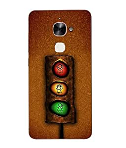 Case Cover Cartoon Printed Brown Hard Back Cover For Letv Le Max 2