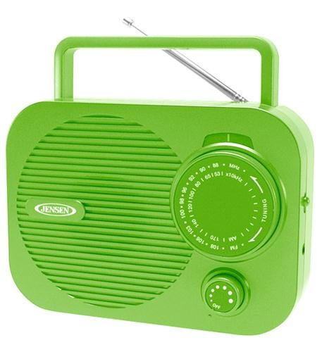 Spectra Merchandising Mr-550-G Portable Am/Fm Radio (Green) W/ Aux Jack (Jen-Mr-550-G)