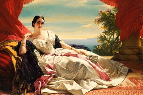 High Quality Polyster Canvas ,the High Quality Art Decorative Prints On Canvas Of Oil Painting 'Portrait Of Leonilla, Princess Of Sayn-Wittgenstein-Sayn, 1843 By Franz Xaver Winterhalter', 16x24 Inch / 41x61 Cm Is Best For Hallway Gallery Art And Home Gallery Art And Gifts (Expresso Tabs compare prices)