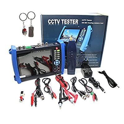"Seesii 7"" CCTV HVT-3600MOS Camera Monitor Tester Multimeter+Optical Power Meter+HD-SDI In/Out Test With Key Chain"