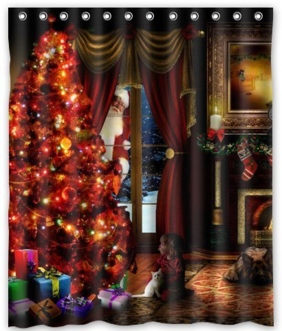 Christmas Eve Shower Curtain