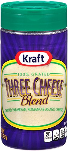 Kraft Cheese 100% Grated Three Cheese Blend, 8 oz (Kraft Grated Romano Cheese compare prices)