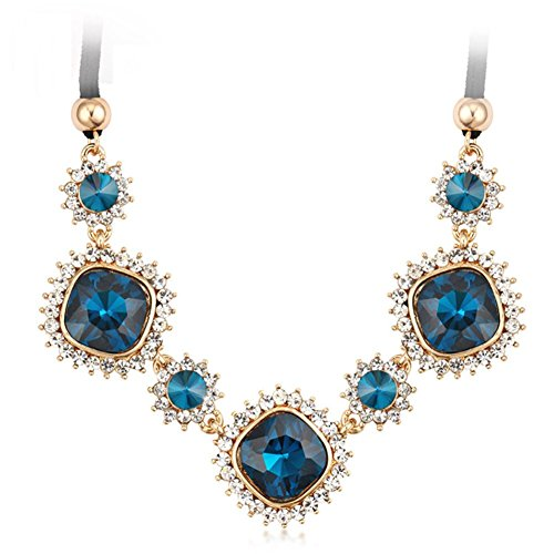 z-p-necklace-blue-crystal-flower-pendant-collar-chunky-choker-chain-for-women
