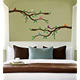 AllPosters, 'Branch With Multi-Colored Birds', Wall Decal (Decal, 91 Cm X 61 Cm)