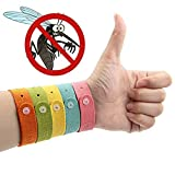 TC JOY Mosquito Repellent Bracelets Wristbands - 5 Pack All Natural Insect Bug Repellent Bracelet for Kids - Safe - Non Toxic - Deet Free, 5 Colors