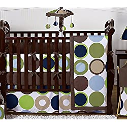 Sweet Jojo Designs Designer Dot Modern Baby Boys Bedding 9 pc Crib Set