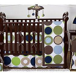 Sweet Jojo Designs Designer Dot Modern Baby Boys Bedding 9 pc Crib Set