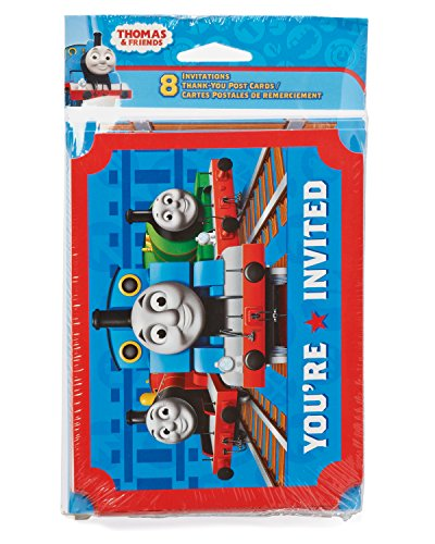 Find Bargain American Greetings Thomas and Friends Invite and Thank You Combo Pack (8-Count)