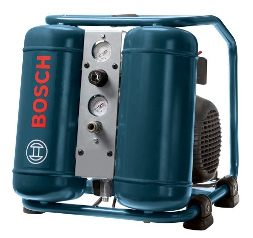 Bosch CET3-10 3 Gallon 1 HP Mini Twin Angled Tank Air Compressor