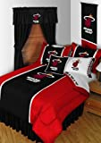 NBA Miami Heat 5pc Bedding Set - Comforter Sheets Twin Bed