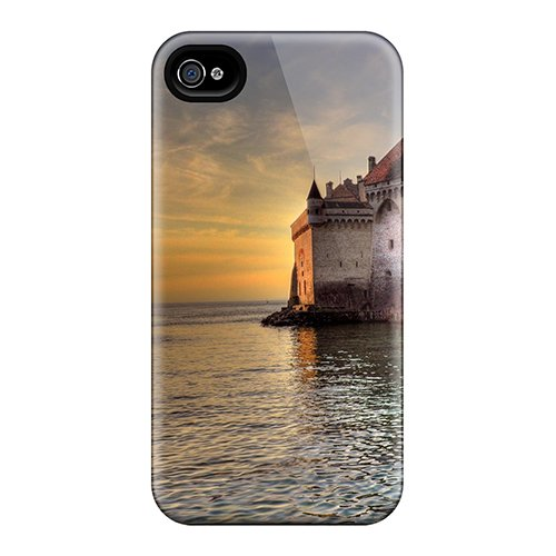 Cute Tpu Anne Marie Harrison Chillon Castle Switzerland Case Cover For Iphone 4/4S front-847707