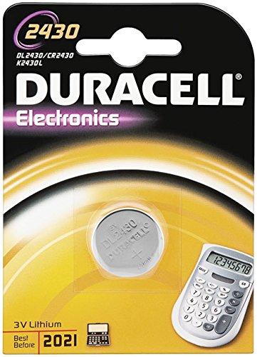 """DURACELL Lot de 5 Piles bouton lithium """"Electronics"""" CR 2430 3 volt Blister de 1"""