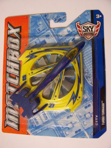 Matchbox 2012 Sky Busters City Turbo Tornado (Yellow, Blue) - 1
