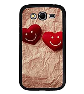 Fuson Premium 2D Back Case Cover Cute Hearts With Black Background Degined For Samsung Galaxy Grand Neo::Samsung Galaxy Grand Neo i9060