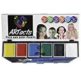 Best Professional Face Painting Kit for Kids . Large 6 Color Set of Face Palette Set by ARTacts . Non Toxic., , hypoallergenic, 100% Quality Childrens Face Painting Party Kit