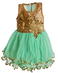 Motley Girls' Dress (5-6-617_Ferozi_5-6 Years)