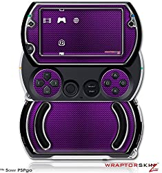 Carbon Fiber Purple And Chrome Decal Style Skins (Fits Sony Ps Pgo)